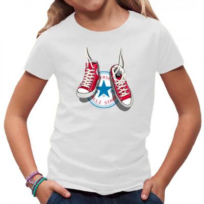 Motiv: All Star Sneakers Zwei Klassische rote Sneakers vor ihrem Markenlogo.    Motivgröße ca. 21x18cm