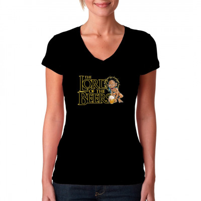 Fun Shirt Motiv: Lord of the Beers  Einer geht noch Spass Shirt und Kracher auf jeder Party. Lustige Herr der Ringe Parodie.