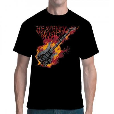 Das ultimative Heavy Metal - Motiv für alle, die im Klang schreiender Gitarren, scheppernder Drums und brummender Bässe ihre Offenbarung erfahren. Zeigt eure Liebe zu dieser himmlischen Musik mit dieser coolen brennenden Gitarre auf eurem Shirt.