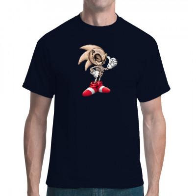 T-Shirt Motiv: Dead Sonic  Cooles T-Shirt Motiv mit dem man auf jeden Fall auffällt. Sonic von Sega kennt jeder, aber der untote Sonic ist schon was besonderes.