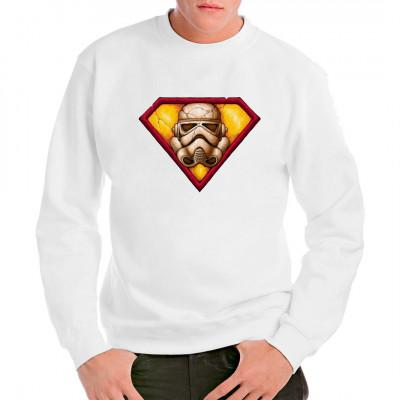 T-Shirt-Motiv: Super Stormtropper  Cooles Shirt-Motiv. Ist es ein Vogel? Ist es ein Flugzeug? Nein, es sind die Imperialen Sturmtruppen! Fun-Motiv für alle SciFi-Fans.