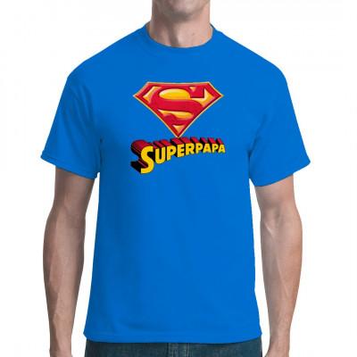 Dieses Superpapa - T-Shirt ist der Renner. Du findest deinen Papa auch super? Schenke ihm dieses tolle Shirt!