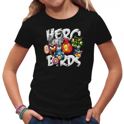 T-Shirt Motiv: Hero Birds  Cooles Fun-Shirt Motiv. Die Angry Birds im coolen Avengers Look.