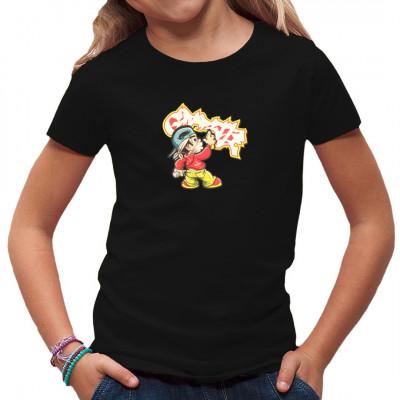 Fetziges Kindermotiv: Graffiti Kid Für alle angehenden Straßenkünstler oder Rabauken gibt es dieses tolle Shirt.  Motivgröße: 21x20cm