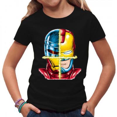 RoboMan - Iron Man meets Robocop Wer ist die coolere Mensch - Maschine? Ihr habt die Wahl, gefallen Euch das Exo-Skelett von Iron Man  oder die Cyborg - Implantate von Robocop besser? tolles T-Shirt Motiv mit deinem Actionhelden