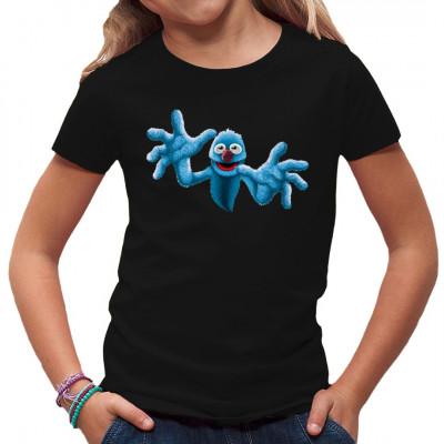 Das freundliche blaue Plüschmonster mit der roten Nase sucht eine neue Freundin oder einen neuen Freund.