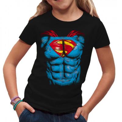 Fühl dich wie Superman mit diesem tollen Shirt auf deiner Brust. Ein solches Sixpack wirst du nie wieder haben, so ein Superhelden-Strampelanzug hat durchaus seine Vorzüge. Tolles Motiv für Kinder  Motivgröße 21x27cm Nicht für weiße Textilien geeignet