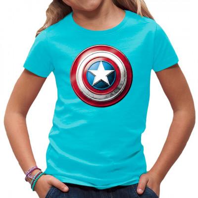 Hol dir den Schild des ersten Rächers, Captain America, als Druck für dein Shirt. Damit ziehst du im Kino garantiert die Blicke auf dich.  Motivgröße: 21x21cm