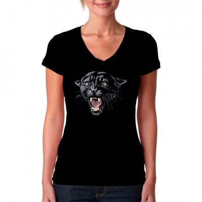 Raubtier - Motiv: Panther Kopf  Hol dir dieses gefährliche Raubtier als Motiv für dein Shirt.  Tolles Motiv für Freunde großer oder kleiner Katzen.