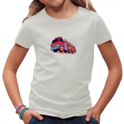 Feuerwehr als Comic - Motiv für dein Shirt.  Tolles Motiv nicht nur für Kids