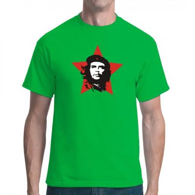 Das berühmte Che Guevara - Motiv für dein T-Shirt, Sweatshirt oder V-Neck  Mittels Transfer Siebdruckverfahren aufgebracht. waschfest
