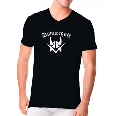 Fühlst du dich wie ein Donnergott? Dann zeig es mit diesem coolen Wikinger - Motiv für dein Shirt.