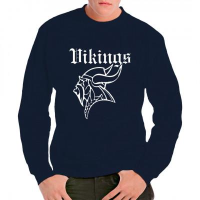 Cooler Wikinger - Kopf für dein Shirt, komplett mit traditionellem Bart und gehörntem Helm. Odin wäre stolz auf dieses Shirt.