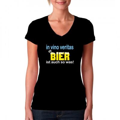 In vino veritas In Bier ist auch sowas.