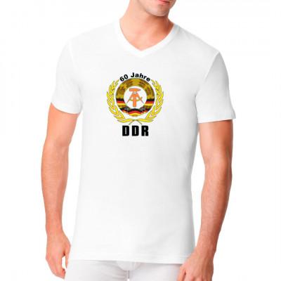 Shirt Motiv: 60 Jahre DDR  Größe: ca. 23x26 cm