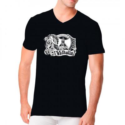 Shirt Motiv: Valhalla. Cooles T-Shirt für alle Wikinger - Fans.