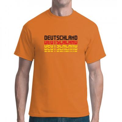 """Schriftzug """"Deutschland"""" in Schwarz Rot Gold als waschfester Transferdruck für Dein T-Shirt, Sweatshirt oder V-Neck"""