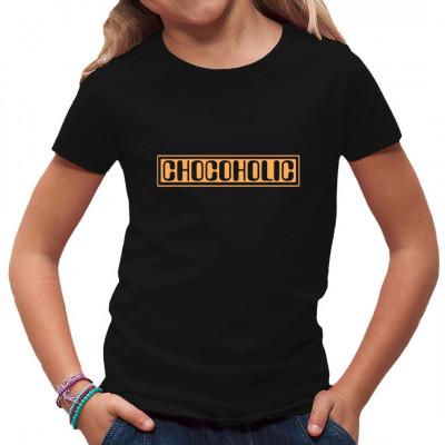 Bist Du auch ein Schokoholiker? Bist Du nicht Du selbst ohne eine ordentliche Dosis Kakao? Dann steh zu Deiner Sucht mit diesem Chocoholic - Shirt.