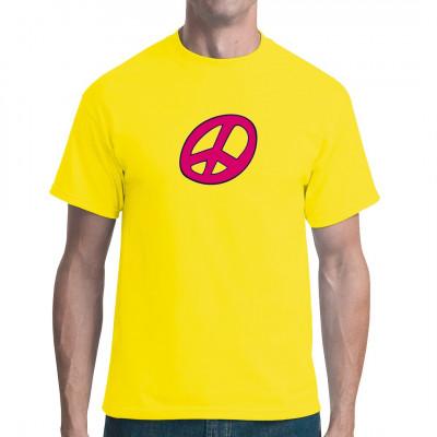 Purpurnes Peace Zeichen für dein T-Shirt, Sweatshirt oder V-Neck.