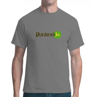 Fun Motiv: Platzhirsch Du bist der Chef im Revier? Wer nicht spurt kriegt eins mit deinen Hörnern? Dann hol dir dieses tolle Shirt.