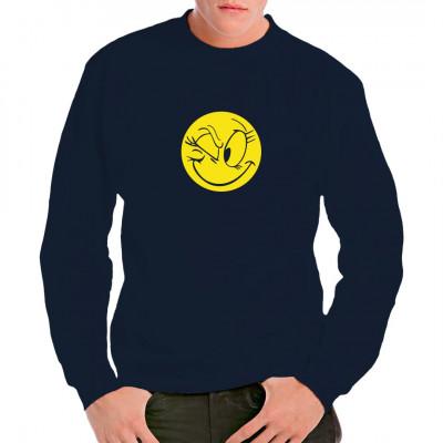Emoticon Fun Shirt: Zwinkerndes Smiley