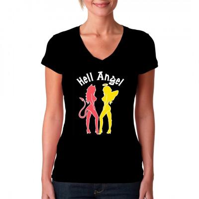 T-Shirt Motiv: Hell Angel  Gut oder Böse das ist hier die Frage - T-Shirt in TOP Qualität