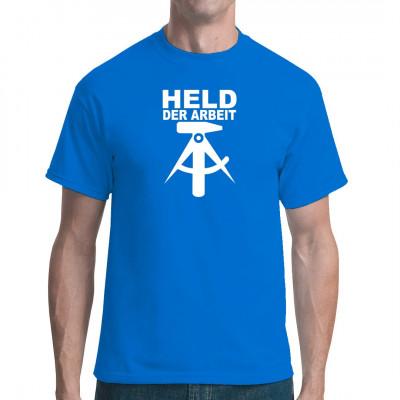 Shirt-Motiv: Held der Arbeit Arbeiterkleidung im Zeichen von Hammer und Zirkel