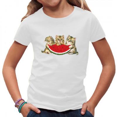 Drei Kätzchen essen Melone Kindermotiv, F - Fashion, Sonstige, K - Kids, Baby, Tiere & Natur, Kinder, Tiere & Natur, Krabbel Gruppe, Kindergarten, Kinder
