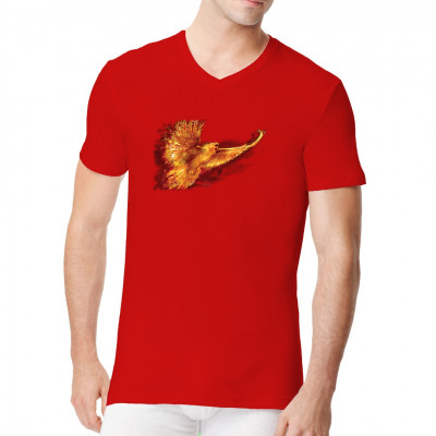 T-Shirt - Motiv : Phönix Brennender Vogel als cooles Fantasy Motiv für dein T-Shirt, Sweatshirt oder V-Neck