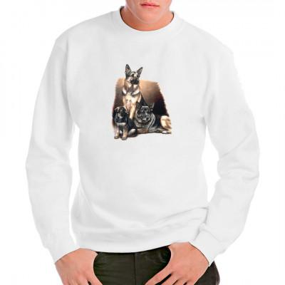 T-Shirt: Schäferhund Familie, Tiere & Natur, Hunde, Hunde