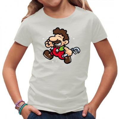 Du stehst auf klassische Videospiele? Dann wird Dir dieser Klempner irgendwie vertraut vor kommen. Hol dir dieses tolle Gamer - Motiv für dein Shirt.