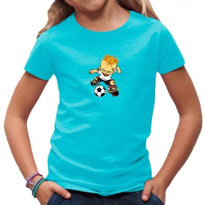 Kleiner Junge mit Fußball Fun - Motiv für Sportfans und Kids