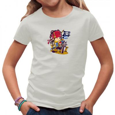 Kinder Shirt Motiv: Kleiner Pirat Toller Shirtdruck für alle kleinen Abenteurer, die in ihrer Fantasie auf große Fahrt zur Schatzinsel gehen. Dieses Shirt hält so mancher Kaperfahrt Stand.