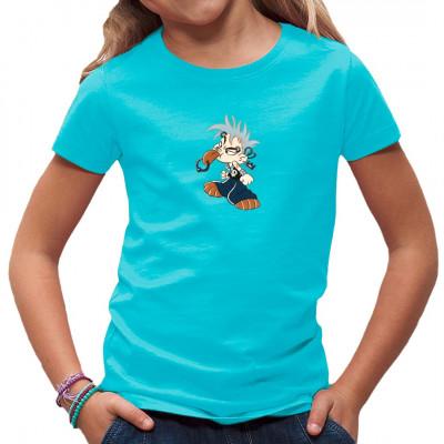 Kleiner Punk mit allerhand Piercings als Fun-Motiv für dein Shirt.  Ideal für Kids