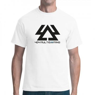 404 Multigaming Team Shirt Logo gedruckt in Schwarz. Zeige das du zumTeam 404 gehörst!  Mittels Digital-Direktdruck aufgebracht. waschfest Farbabweichungen können von Ihrer Monitorauflösung zum geliefertem Produkt auftreten.  T-Shir