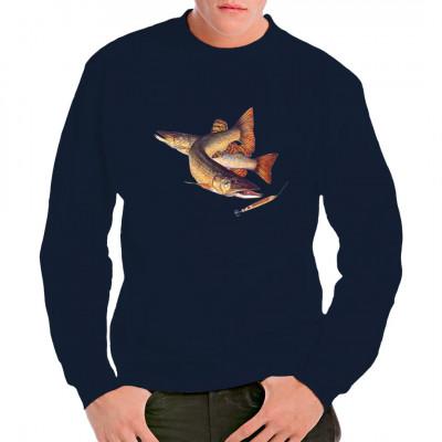 Angler-Motiv: Hecht, Tiere & Natur, Angeln & Fischen, Unter Wasser, Tiere & Natur, Fischen & Angeln