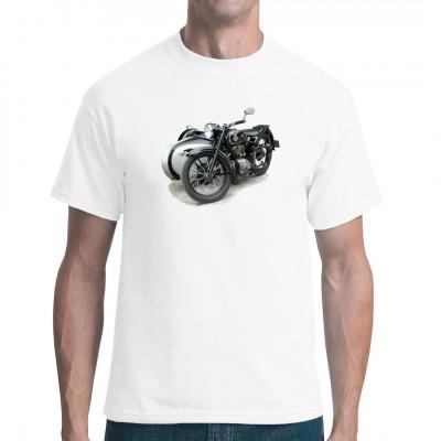 T-Shirt - Motiv : Altes AWO Motorrad