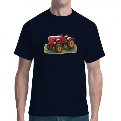 T-Shirt - Motiv: Porsche Diesel Traktor, Oldtimer  Mittels Digital-Direktdruck aufgebracht, waschfest