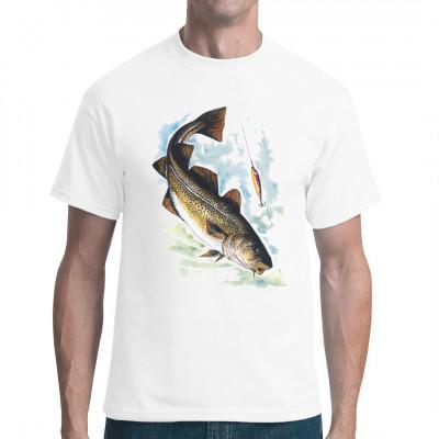 Angler-Motiv: Dorsch, Tiere & Natur, Angeln & Fischen, Unter Wasser, Tiere & Natur, Fischen & Angeln