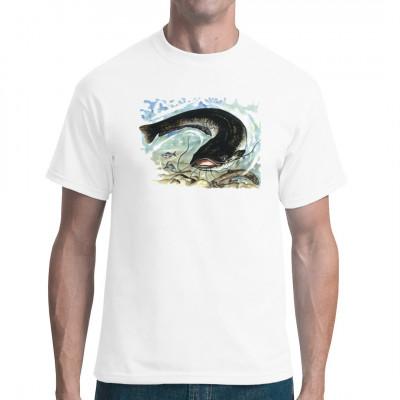 Angler-Motiv: Wels, Tiere & Natur, Angeln & Fischen, Unter Wasser, Tiere & Natur, Fischen & Angeln