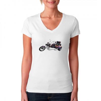 Biker Motiv Trike Chopper, Fahrzeuge, Bikes / Fahrrad, X - XXL Motive, Männer & Frauen, Biker, Biker