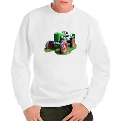 Traktor Lindner Typ17 als hochwertiger Siebdruck-Transfer für dein T-Shirt, Sweatshirt oder V-Neck