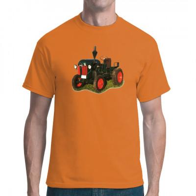 Motiv: Traktor IFA Oldtimer, Trecker / Traktor, Männer & Frauen, DDR Motive, Ostalgie, Traktoren