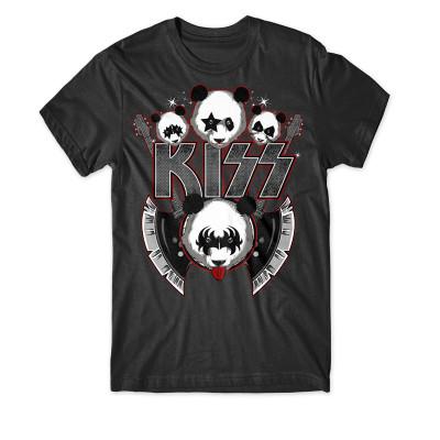 Wildes Make-Up, Glitter und Gitarren, die wie Streitäxte geformt sind... - Diese niedlichen Pandas spielen gern KISS.
