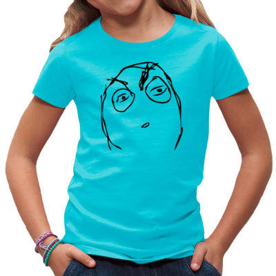 """Der """"Suspicious Face Rage Meme"""" Meme als T-Shirt - Motiv."""