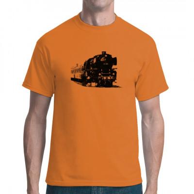 Für Eisenbahnfreunde ein absolutes Muss: das T-Shirt mit alter Lokomotive.
