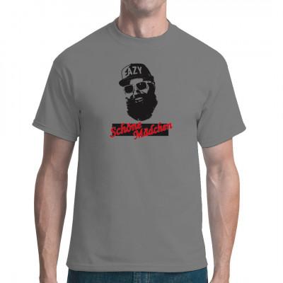 T-Shirt Motiv: Schöne Mädchen Rap  Der Mann mit der Sonnenbrille, der bei 30 Grad über schöne Mädchen singt...  Das perfekte Musik - Motiv für deine Party! Für Fans von MC Fitti ein Muss.