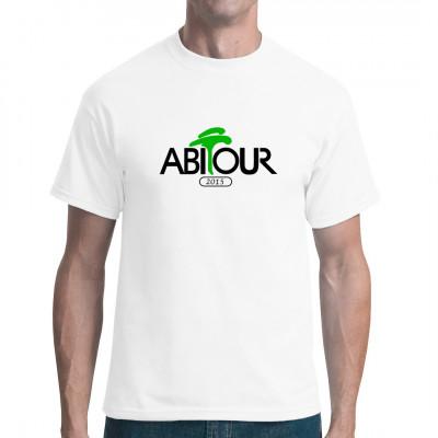 Das Abitur ist eine AbiTour durch allerhand Sachgebiete, und kann gelegentlich auch zur AbiTortur ausarten. Fun-Shirt für alle Abi-Schüler, die viel lieber unter Palmen abhängen würden, als in der Aula seitenweise Gedichtsinterpretationen zu verfassen.