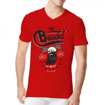 Sie sind hart, sie sind fies und sie haben üppige Bärte - Sie sind die Bearded Bastards Crew. Wenn Du nicht willst, dass sie Dich mit ihren Bärten zu Tode kratzen, dann hol dir dieses coole Biker - Motiv für dein Wunsch-Shirt.
