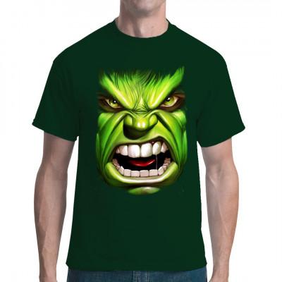 Da ist wohl wieder jemand unglaublich wütend? Wir mögen es, wenn er wütend wird... Brüllender Hulk für dein Shirt als waschfester Digitaldruck.